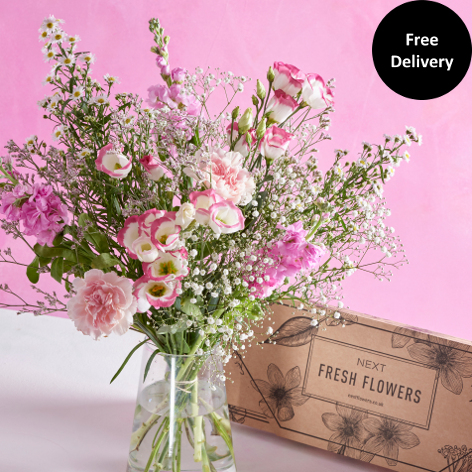 Birthday Flowers   Birthday Roses   Bouquets   Next Flowers UK Letterbox Pretty in Pink