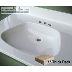 ada bowl vanity sink top 1 deck premium matte colors
