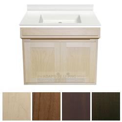 30 ada handicap vanity cabinet package contractor series white sink top