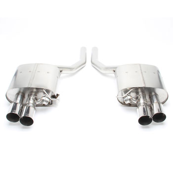 dinan free flow exhaust with polished tips for bmw 550i n63tu f10