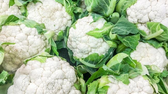 Cauliflower is low in calories, fat and carbs.