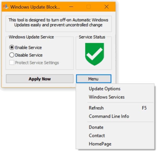 Блок обновления для Windows