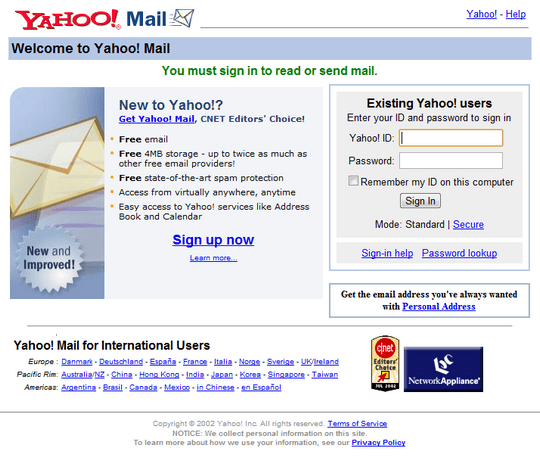 yahoomailsignin2002