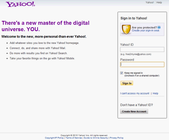 yahoomailsignin2010