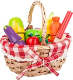Shopping Basket with Cuttable Fruits by Small Foot
