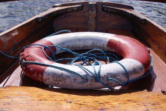 life preserver in a boat