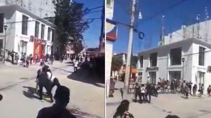 Entre jaloneos, policías detienen a vendedora de chapulines en Oaxaca —  Noticias en la Mira