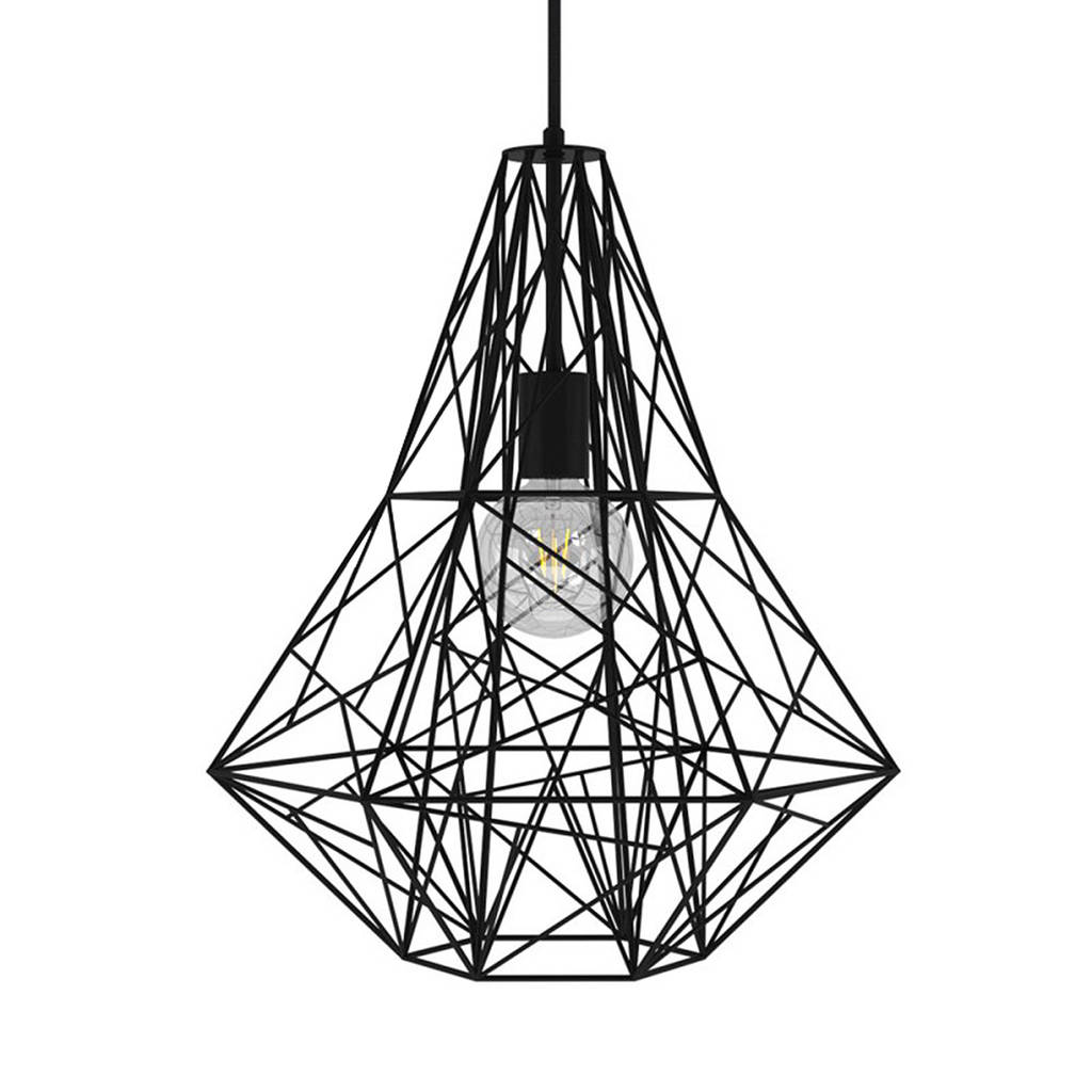 Black Birdsnest Cage Pendant Light By Mr J Designs