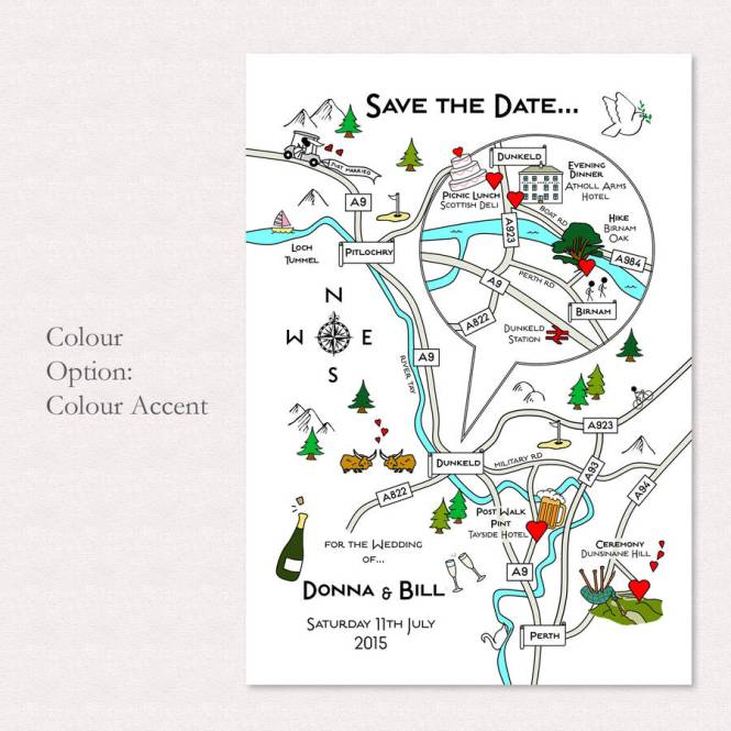 Ilrated Map Invitation By Cute Maps