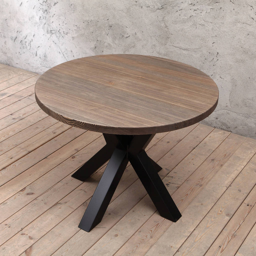 clyde solid wood round dining table by cosy wood on solid wood dining table id=81532