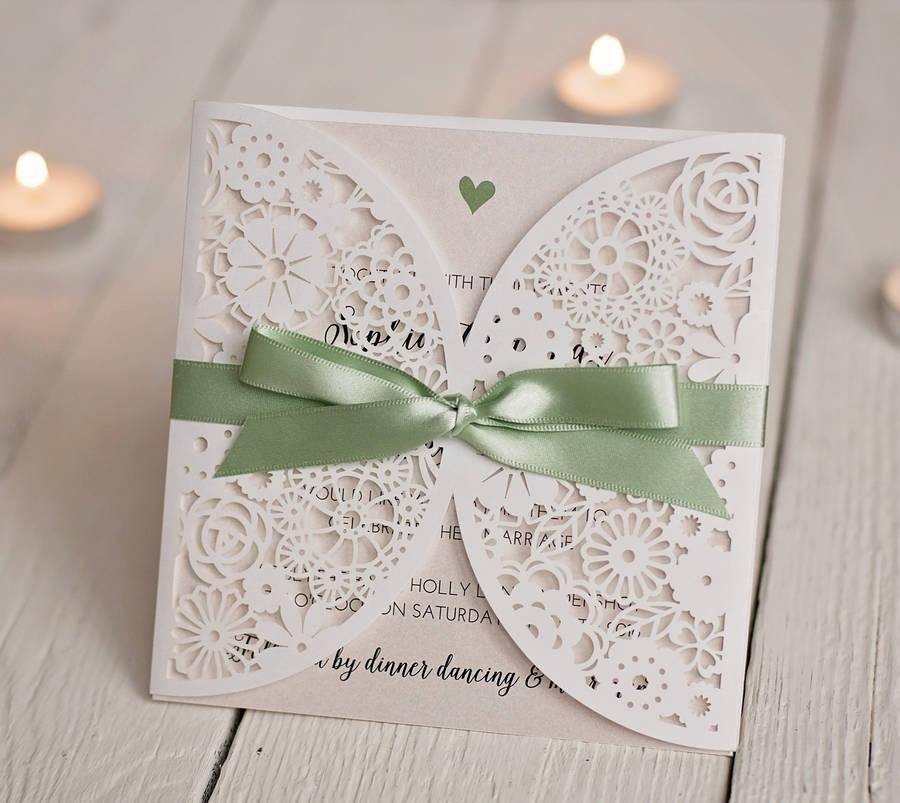 Cut Out Wedding Invitations