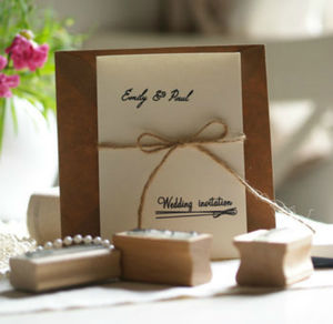 Personalised Wedding Invitation Rubber Stamp By The English