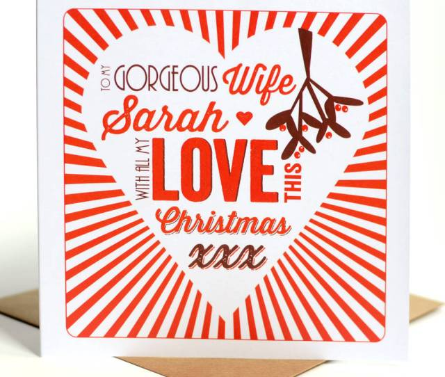 Personalised Husband Or Wife Christmas Card