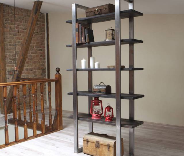 Industrial Style Freestanding Shelving Unit