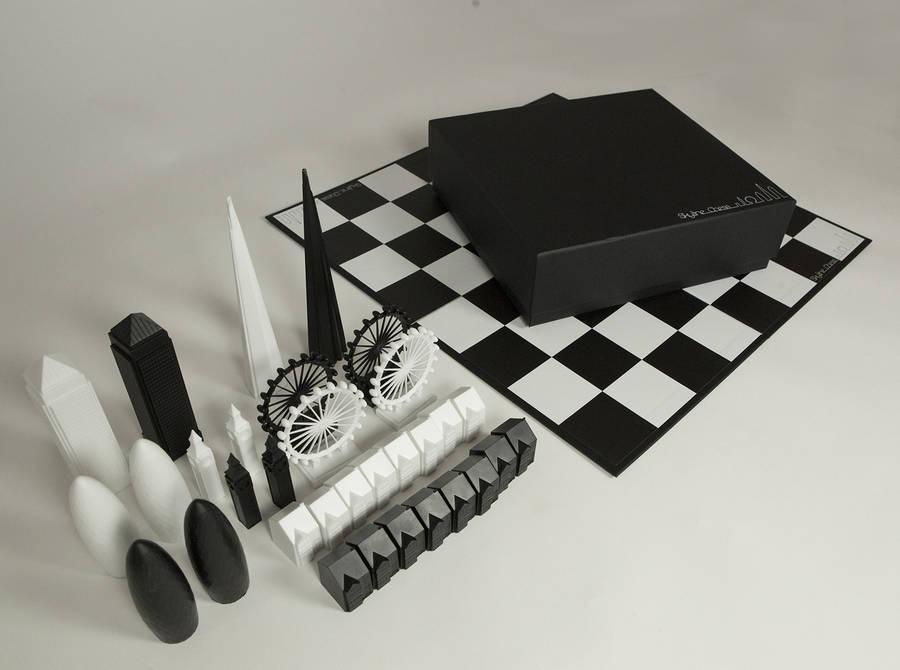 London Skyline Architectural Chess Set By Skyline Chess