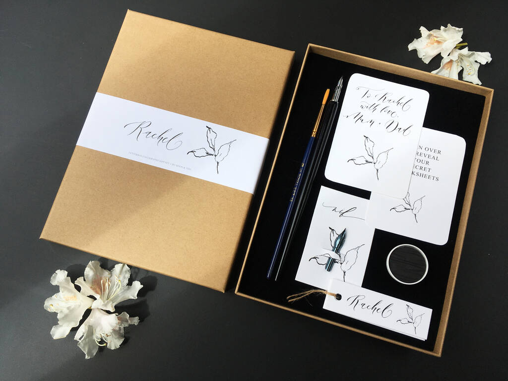 Letterbox Calligraphy T Set By By Moon Amp Tide