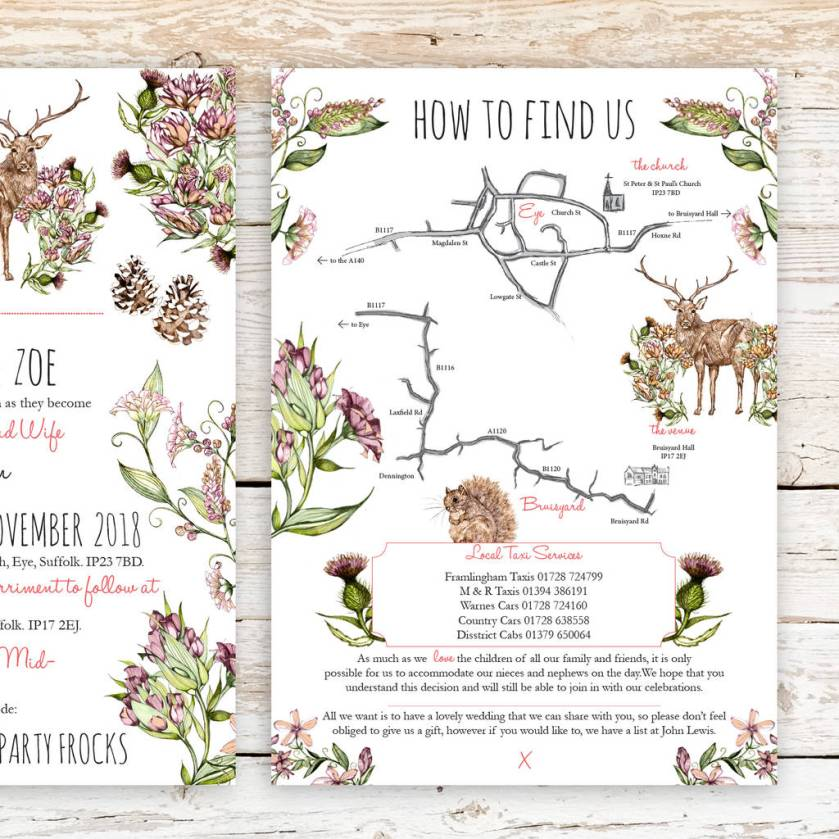 Wedding Invitations Lewis Countryside S Invitation Suite By Zoe Barker