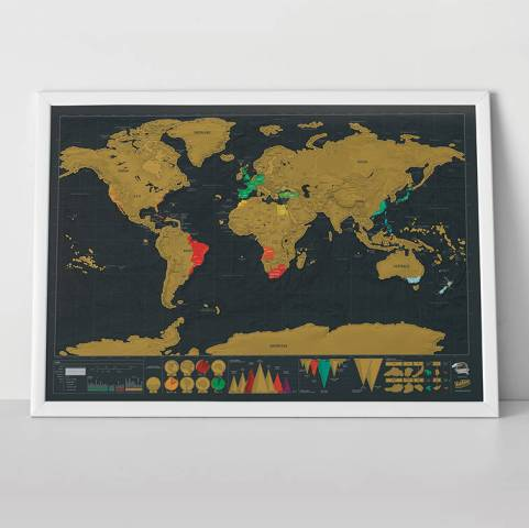 scratch map     deluxe world map poster by luckies   notonthehighstreet com Scratch Map     Deluxe World Map Poster