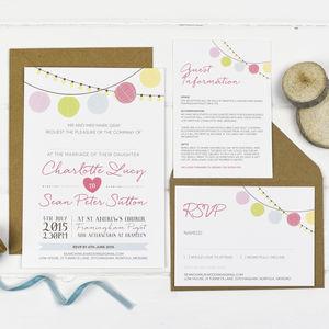 Paper Lantern Wedding Invitations