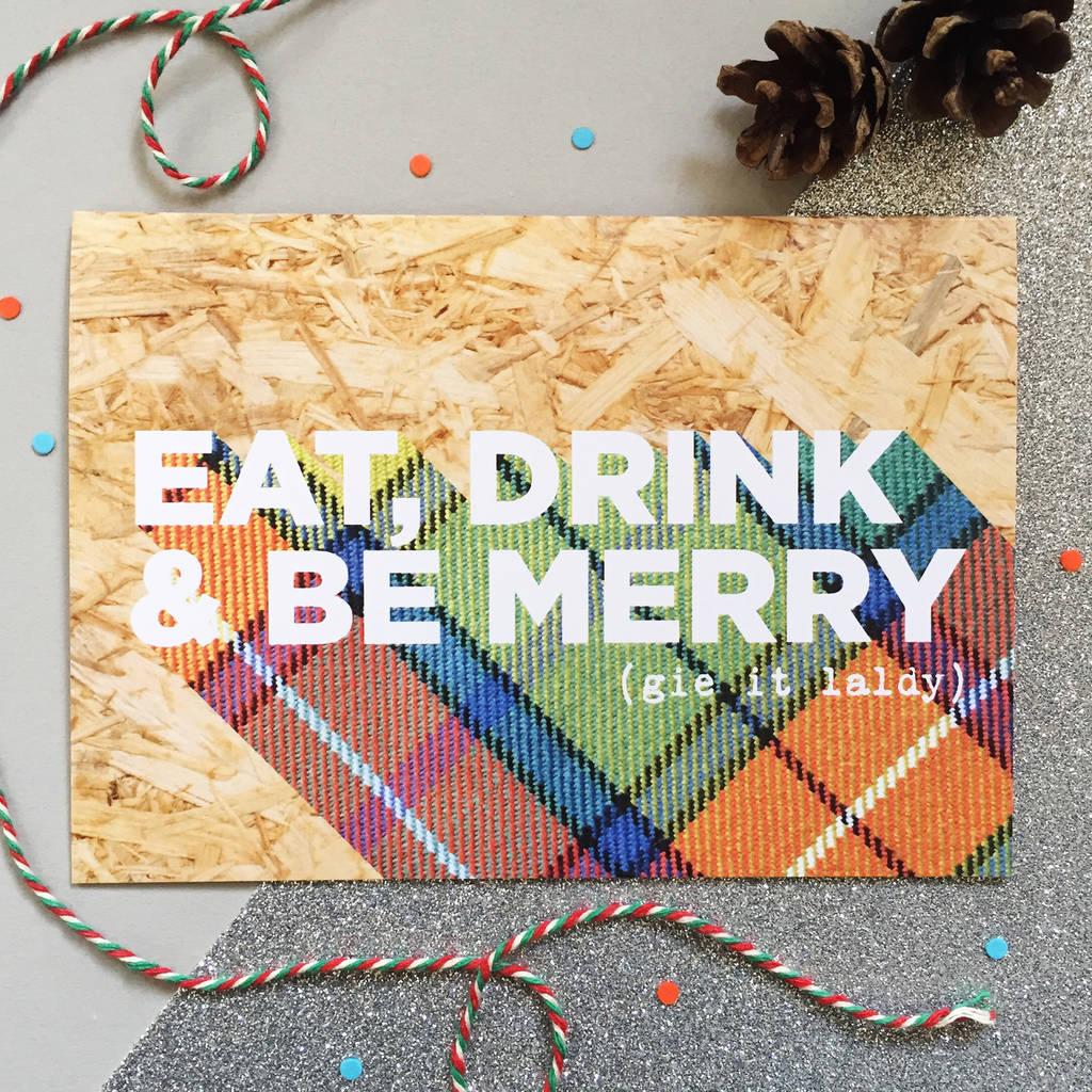 Nice List Funny Scottish Christmas Cards By Hiya Pal
