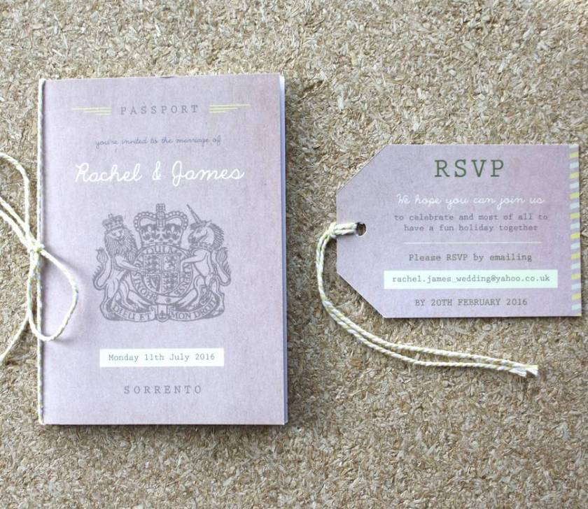 Pport Wedding Invitation Travel Booklet
