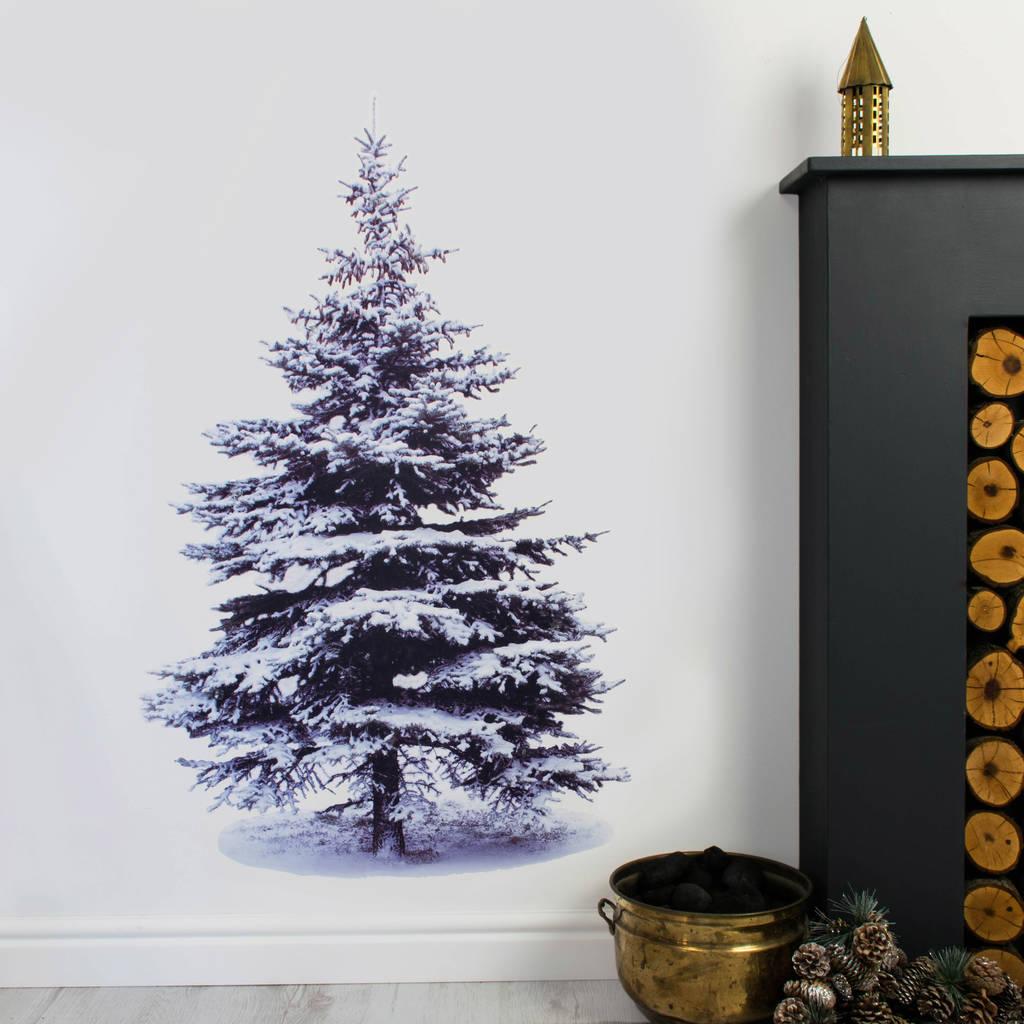 Christmas Tree Out Lights Wall