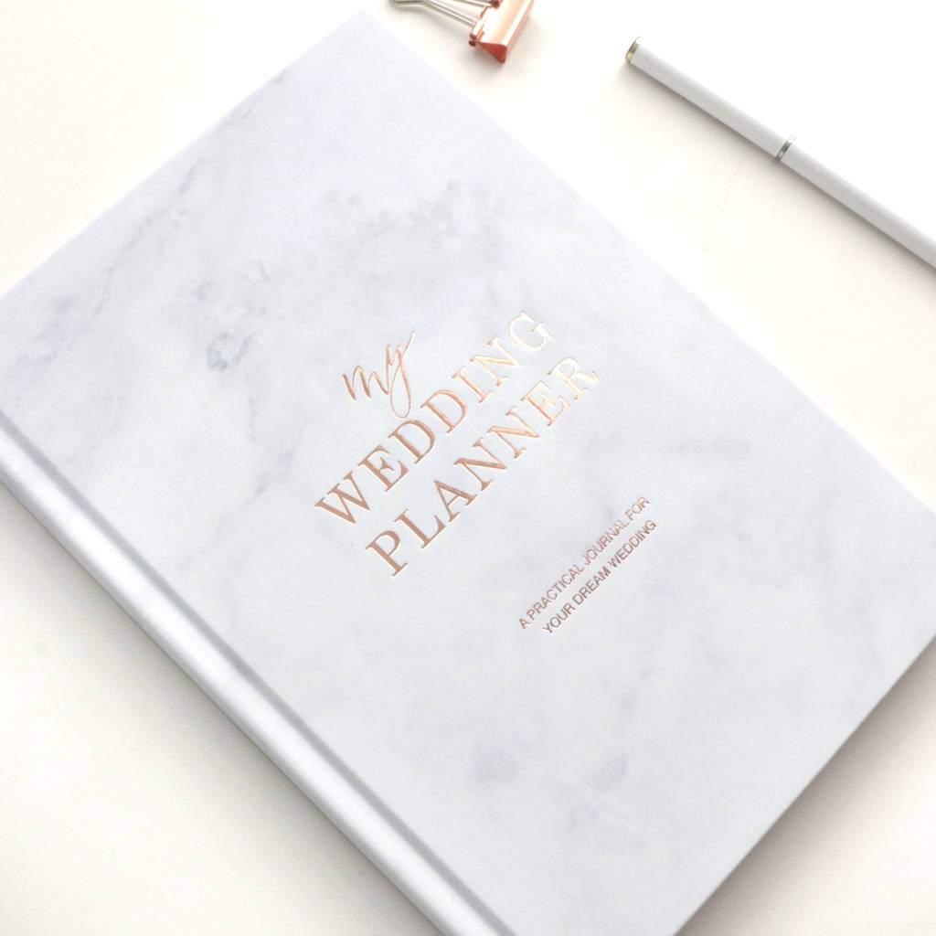 Wedding Planner Book Marble Rose Gold Foil By Blush And