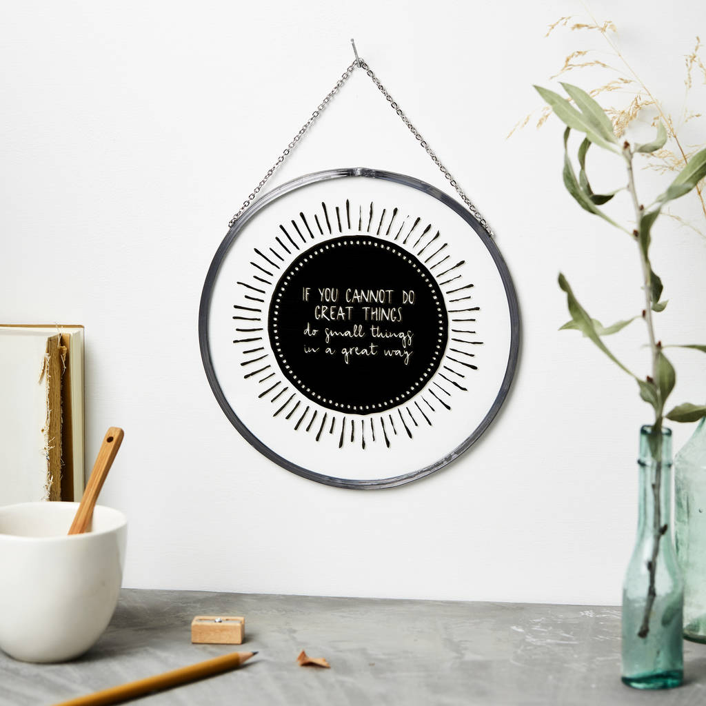 'if you cannot do great things' hanging glass ornament by ... on Outstanding Things  id=69932