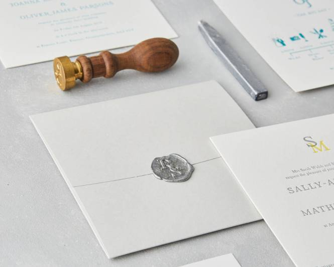 Wax Seal Letterpress Wedding Invitation