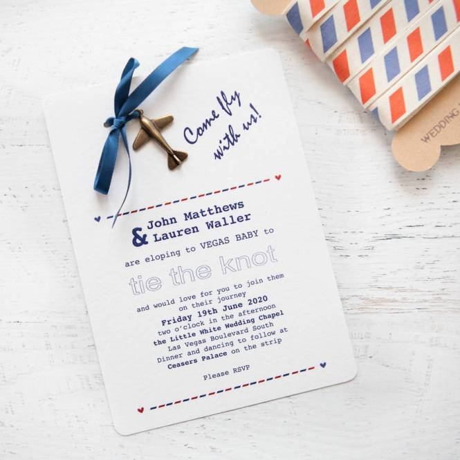39 Fly With Us Diy Wedding Invitation Pack