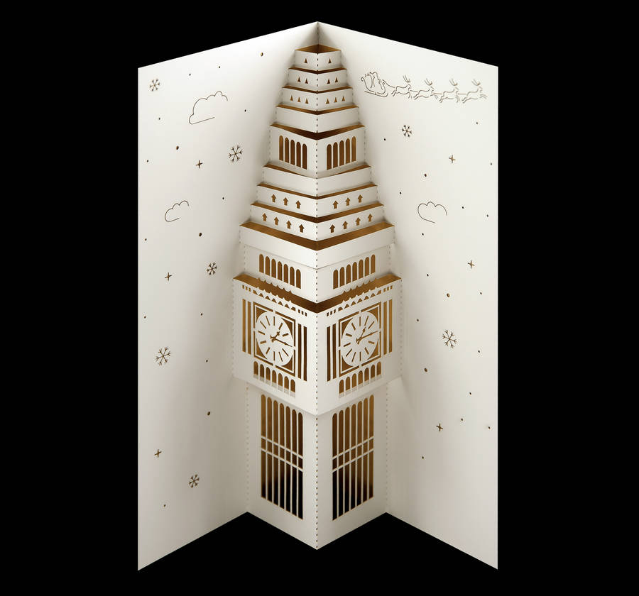 Big Ben Pop Up Christmas Card By Paper Tango