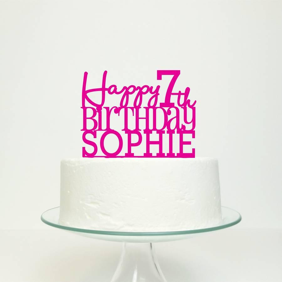 Happy Birthday Cake Topper Gold