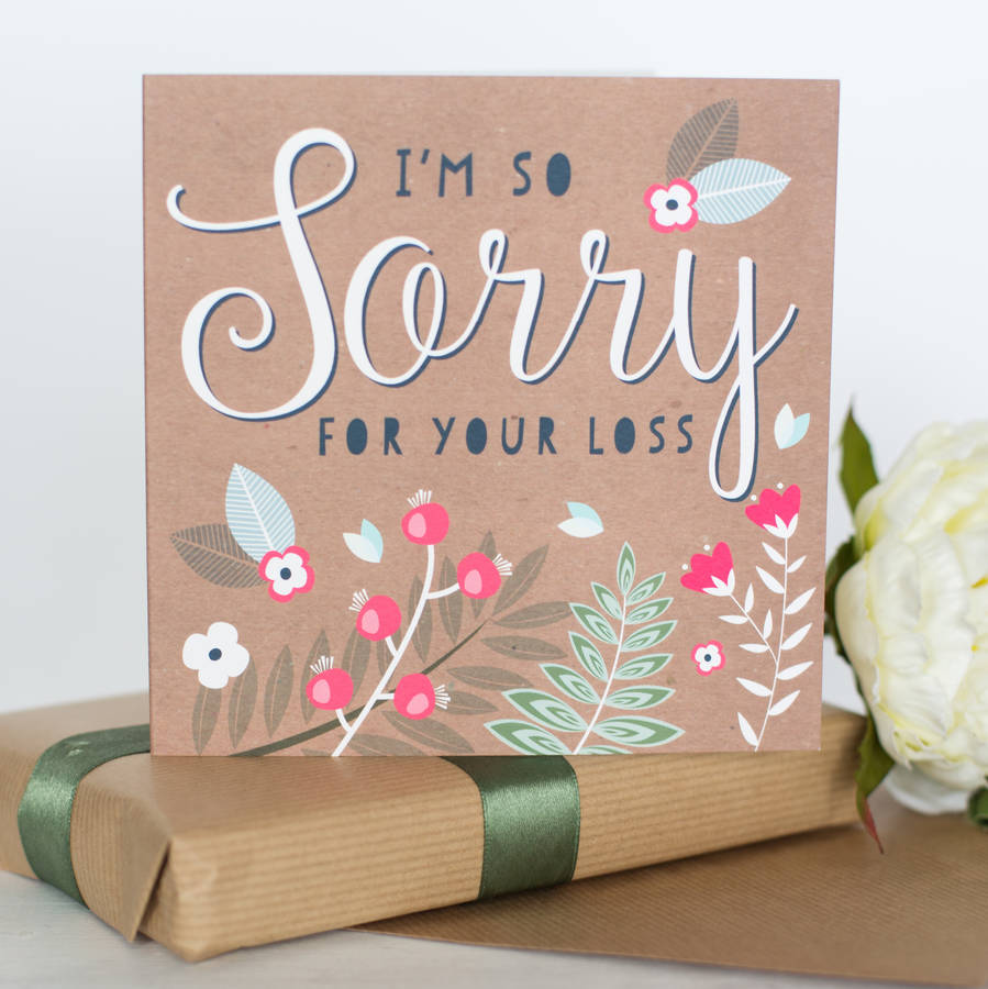 Sorry For Your Loss Card By Allihopa