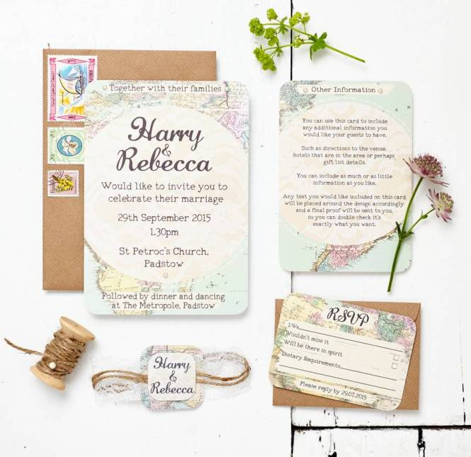 Ilrated Map Wedding Or Party Invitation