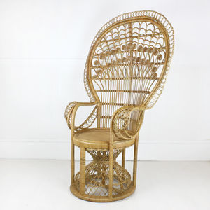 elaborate rattan peacock chair by out there interiors     elaborate rattan peacock chair by out there interiors    notonthehighstreet com