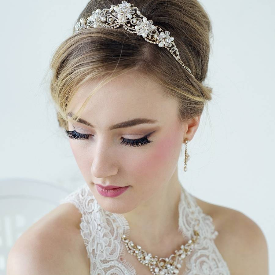 Adeline Freshwater Pearl Tiara By Lola Amp Alice