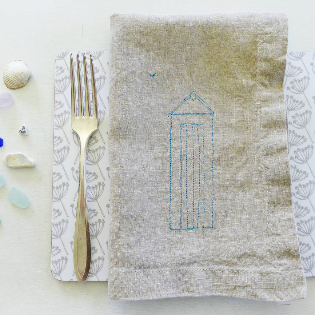 Embroidered Linen Napkins