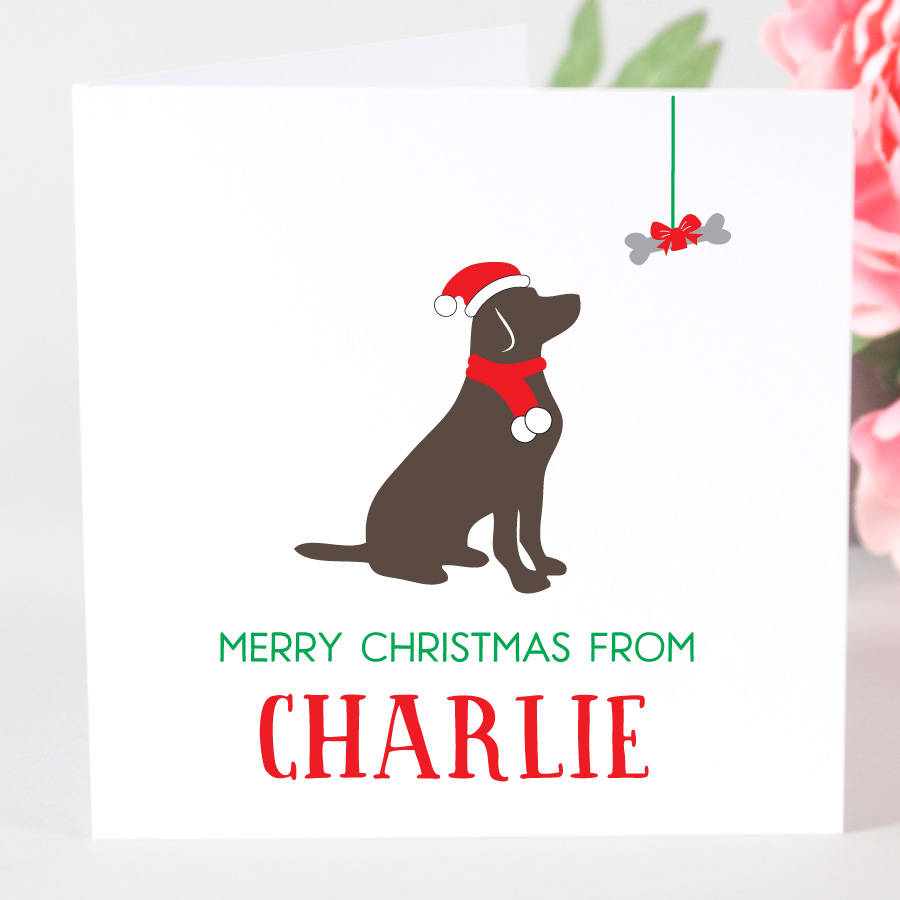 Personalised Labrador Dog Christmas Card By Megan Claire