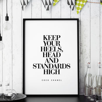 'Keep Your Head High' Fashion Typography Print