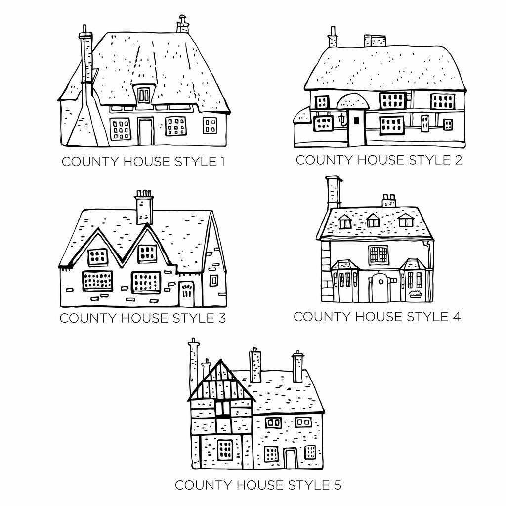 Personalised First House Metallic Print By That S Nice