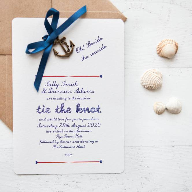 Nautical Diy Wedding Invitation Pack