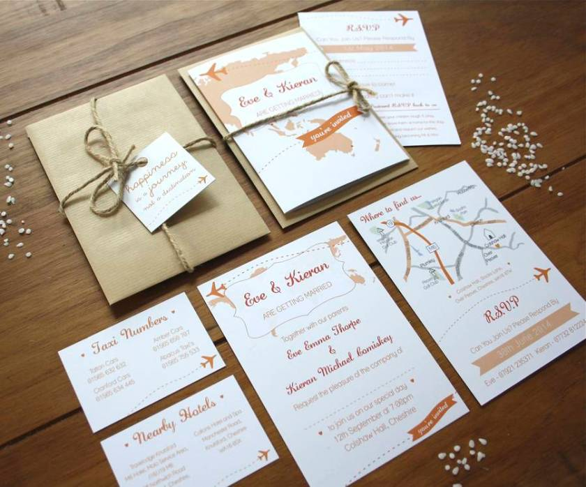 Travel Booklet Wedding Invitations