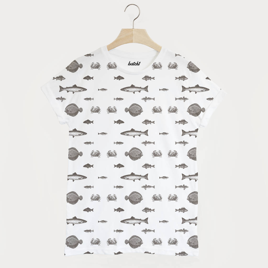 Fish All Over Print Men S Summer Fishing T Shirt By Batch1