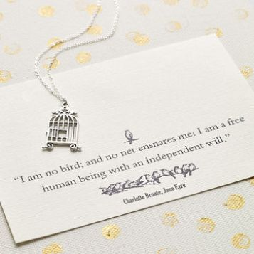 gifts for book lovers - jane eyre necklace