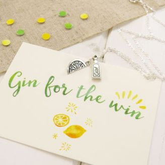 'Gin For The Win' Necklace 100 Cheap Thoughtful Gift Ideas For Her Under £20