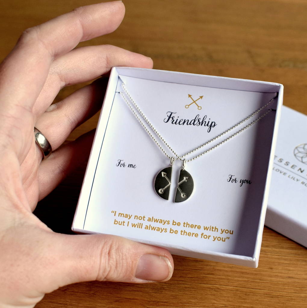 Crossed Arrows Friendship Necklace Gift Set By Essentia By