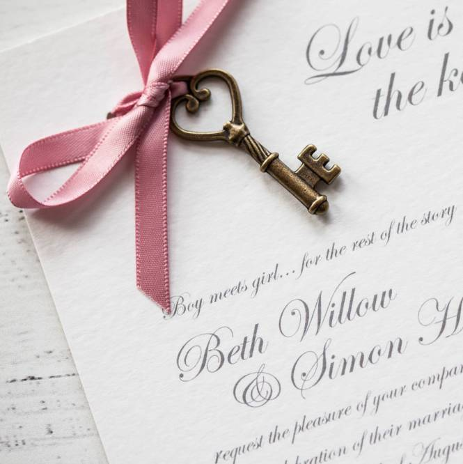 Love Is The Key Diy Wedding Invitation Pack