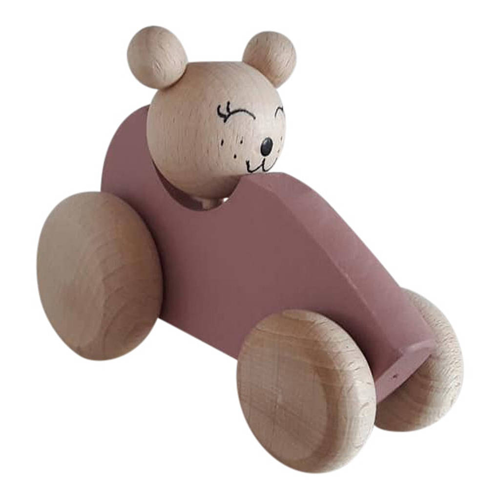 Wooden Bear In Car By Ibby Amp Me