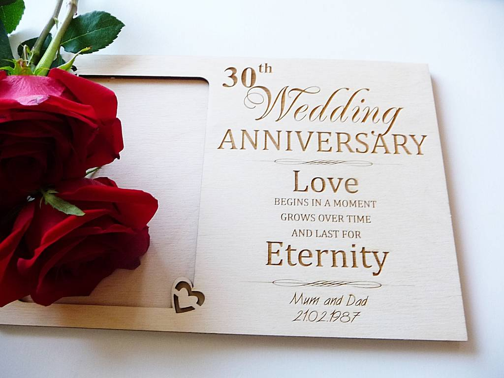 Wedding Anniversary Personalised Photo Frame By Natural