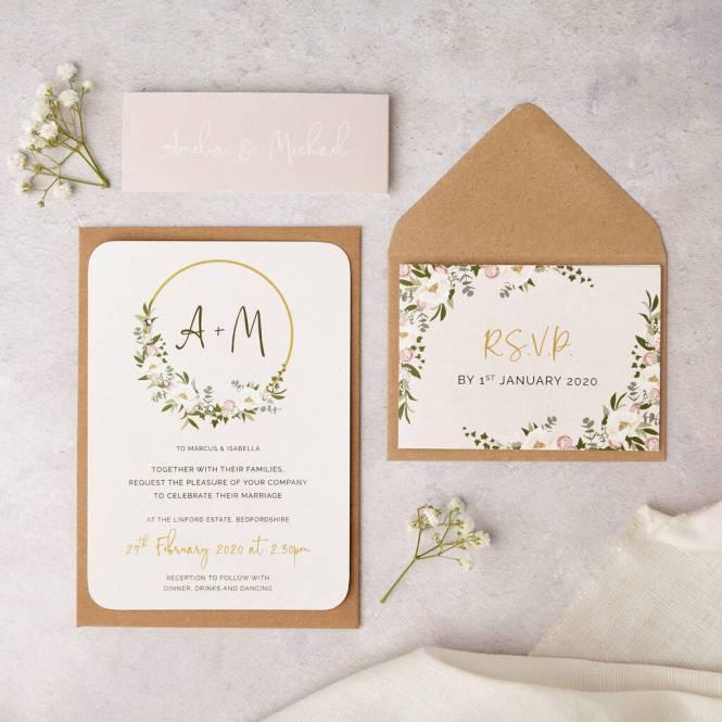 Fl Hoop Wedding Invitations By